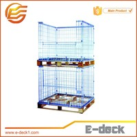 E-DECK Wire Mesh Pallet Cage With Wooden Pallet For Sale