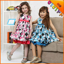 Wholesale summer sleeveless design cotton fancy frocks for baby girls