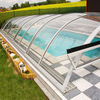 polycarbonate swimming pool cover roof