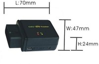 OBD II Anti-theft GPS Car Tracker CCTR-830 , Built in move sensor, begin uploading immediately if car begin to move