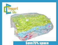 china supplier clear plastic zippered storage vacuum compressed space cube bag for clothes