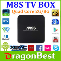 New Arrivel !!Ott Box M8S With Gigabit Rj45 2G Ram 8Gb Flash Cotex A9 Kodi 15.2 Android 5.0 Quad Core Google Tv Box M8S