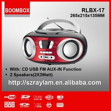 cd player for subwoofer sound system cd boombox with usb aux-in fm radio