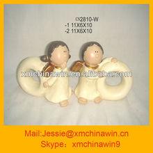 hot sales ceramic napkin ring angel artware