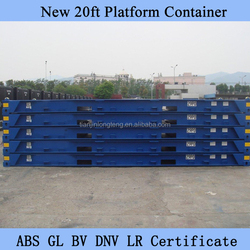 20ft ISO Platform Container, Flat Deck Container