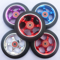 Scooter pu wheels, metal core pu wheel, pro scooter wheel