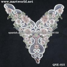 Los últimos diseños de bordado para el cuello