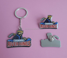 custom river kings offset printing metal hockey promotional keychains cheap