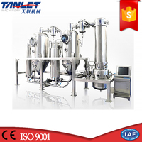 Tanlet Patent best food beverage herbs pharmaceutical processing plant Double Effect Concentrate Machine