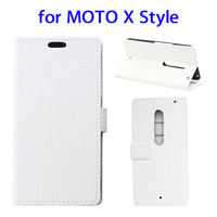 Hot Selling Letaher Phone Card Holder Slot Pouch Stand Case Wallet Cover Case for Motorola Moto X Style