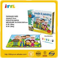 Funny iq puzzle paper puzzle for kids game wholesale educational toy