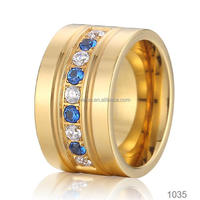 wholesale mens and womens wedding bands stainless steel fashion finger jewelry sell diamond ring