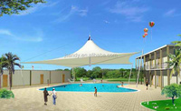 swimming pool cover roof