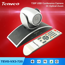 TEVO-VX3-720 video conferencing software and QQ, MSN, SKYPE video calls 3Xzoom 720P hd digital video camera conference system