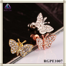 Rose Gold Plated Jewelry Beautiful Pictures Of Fashion Earring For Young Girl