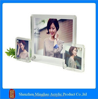 2015 new style clear acrylic picture frame, customized mini acrylic photo frame