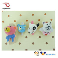 Cute dogs and cats wooden clips craft animal clothes pin