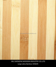 high quality large zebra laminated bamboo wood veneer for furniture,door,flooring face skins