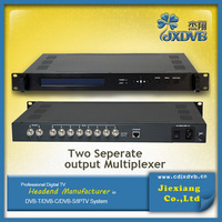 TV broadcasting equipment 8 in 2 out digital ASI/TS multiplexer