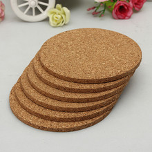 6pcs/lot Round shape Plain Cork Coasters Drink Wine Mats Cork Mats Drink Wine Mat 10cm*0.5cm ideas for wedding and party gift