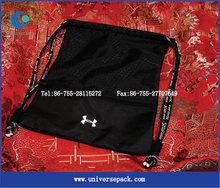 Sreen printing black nylon shopping bag