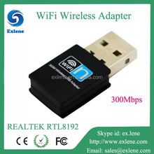 usb adapter RTL8192 300Mbps 802.11g/b/n wireless network cards for pc