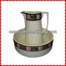 Large fashion durable ceramic hot water pitcher