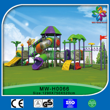 outdoor playground equipment plastic amusement slide,swing,and children's climbing