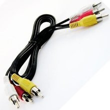 3M Triple Phono 3 RCA AV Audio Video Cable Lead Gold - 3 RCA to 3 RCA
