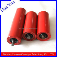 Mining used troughing red 89 tube conveyor roller