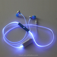 All-in-one Luminous Zipper MP3/CellPhone Media In-ear Stereo Earphone Headphone Tablet Computer Cellphone Accesorries