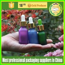 15ml matt colors glass essential oil aluminium cap bottle for eliquid ejuice esmoke oil
