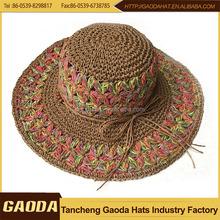 Women Fashion Straw Beach Hats With Bowknot