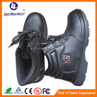 China factory black safety heat resistant shoes for outdoor
