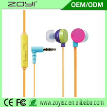 OEM factory plastic in ear headphone covers for trade show