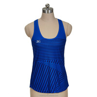 100% poly Knit Womens Sublimation Print Vollyball Tank Top