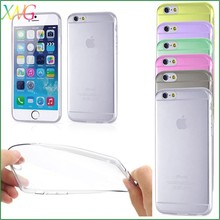 Transparent Ultrathin mix color waterproof 5.5 inch TPU mobile phone case for Iphone 6