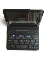 Hot sale Black buletooth keyboard case, stand flip cover tablet leather case