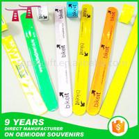 high visibility sport PVC ruler reflective snap slap bracelets