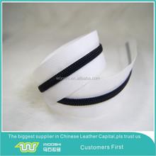 white webbing color black plastic zipper teeth #8 nylon zips for military boot