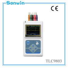 CE approved 3 channel 5lead Ecg holter Machine system