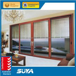 unique design style heat break wooden sliding door