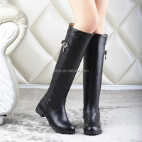 Autumn and winter roman boot female leather thigh high boots
