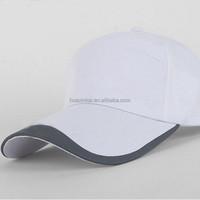 Hot selling custom white plain cotton baseball cap