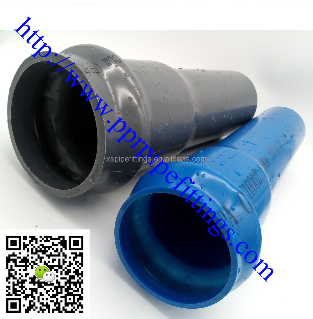 Pvc pressure pipe fittings for water supply for Plastic water pipe