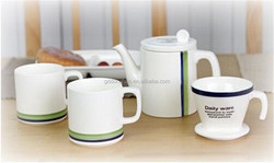 Wholesale Daily use Microwave and safe ceramic silver tea set