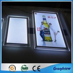 newest a0 a1a2 a3 a4 crystal acrylic led poster frame light frame