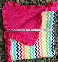wholesale Baby Chevron Minky Blanket knitting Baby Minky Blanket,baby cotton blanket minky dot, baby swaddle blankets
