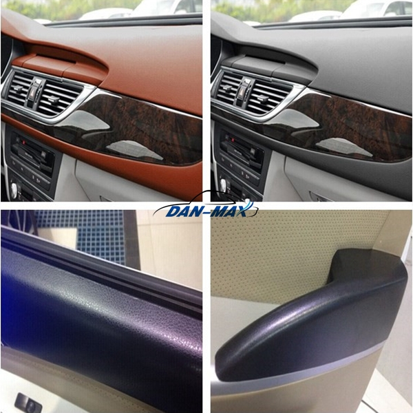 high self adhesive vinyl leather effect pvc film for car interior buy leather effect pvc film. Black Bedroom Furniture Sets. Home Design Ideas