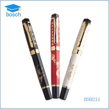 Chinese style heavy logo printing antique fountain roller pen